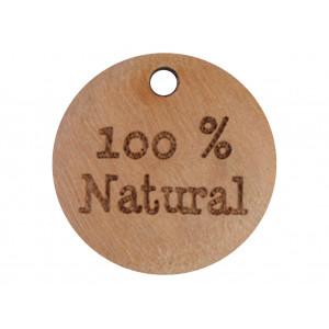 Label Træ 100% Natural 1,8cm