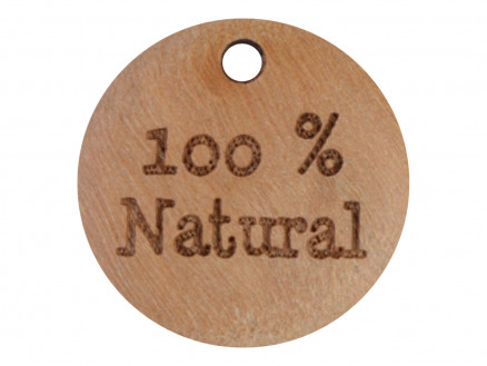 Image of   Label Træ 100% Natural 1,8cm