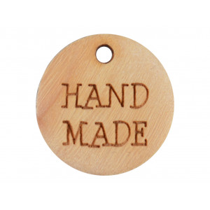 Label Træ Hand Made 1,8cm