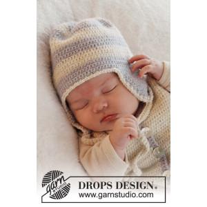 Heartthrob Hat by DROPS Design - Baby Hue Hæklekit str. 1/3 mdr - 3/4 år
