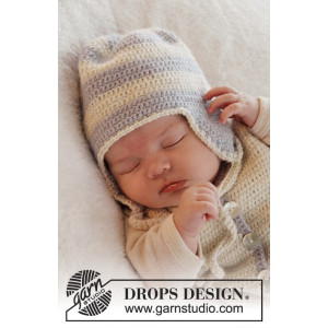 Heartthrob Hat by DROPS Design - Baby Hue Hækleopskrift str. 1/3 mdr - 3/4 år