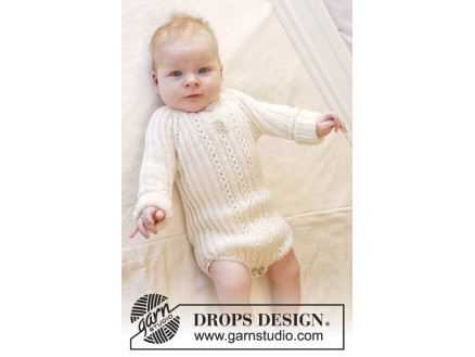Image of   Simply Sweet by DROPS Design - Baby bodystock Strikkeopskrift str. Præ