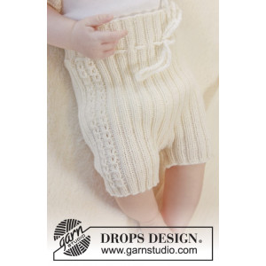 Simply Sweet Shorts by DROPS Design - Baby shorts Strikkeopskrift str. Præmatur - 3/4 år