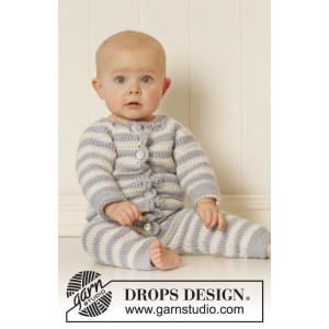Baby Blues by DROPS Design - Baby heldragt Hæklekit str. 0/1 mdr - 3/4 år