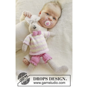 Mrs. Bunny by DROPS Design - Baby Bamse Strikkeopskrift