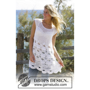 Breath of Summer by DROPS Design - Tunika Hækleopskrift str. S - XXL