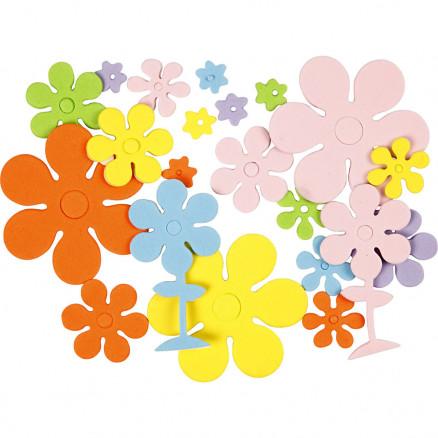 Mosgummifigurer, str. 10-60 mm, tykkelse 2 mm, blomster, 670ass. thumbnail