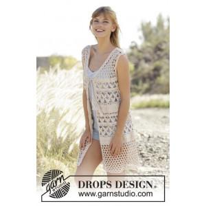 Summer Bliss Vest by DROPS Design - Vest Hæklekit str. S - XXXL