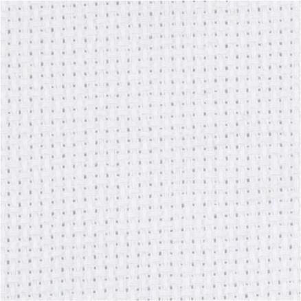 Aidastof, str. 50x50 cm, hvid, 70 tern pr. 10 cm, 1stk. thumbnail