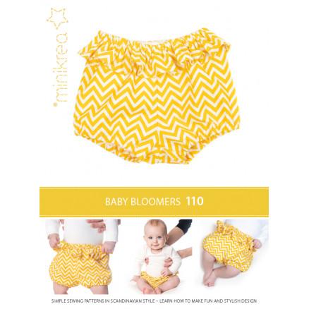 MiniKrea Snitmønster 110 Baby Bloomers Str. 50-92 thumbnail