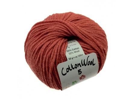 Gepard Garn Cottonwool 5 Unicolor 355 Støvet Vinrød