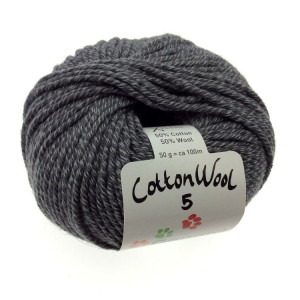 Gepard Garn CottonWool 5 Unicolor 520 Antrasit Grå