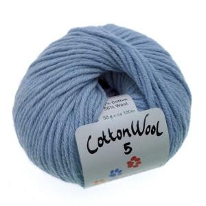 Gepard garn – Gepard garn cottonwool 5 unicolor 730 jeans blå på rito.dk