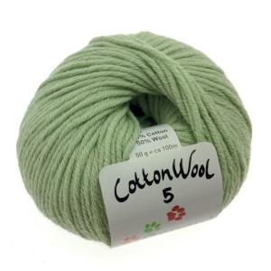 Gepard garn Gepard garn cottonwool 5 unicolor 810 sart grøn på rito.dk