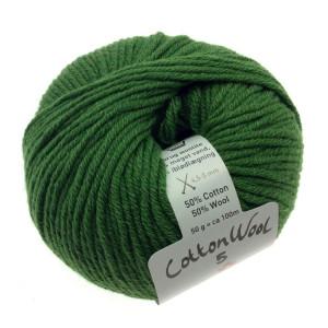 Gepard garn cottonwool 5 unicolor 835 grøn fra Gepard garn fra rito.dk