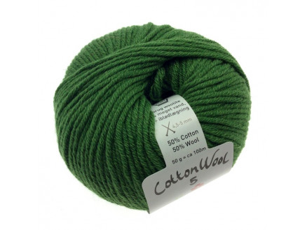 Gepard Garn Cottonwool 5 Unicolor 835 Grøn