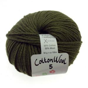 Gepard garn – Gepard garn cottonwool 5 unicolor 870 oliven grøn på rito.dk