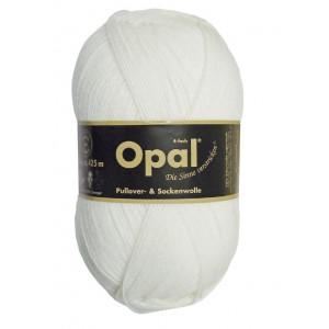 Opal Uni 4-trådet Garn Unicolor 2620 Hvid
