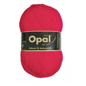Opal uni 4-trådet garn unicolor 5180 rød fra Opal på rito.dk
