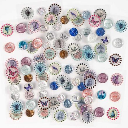3D Stickers, str. 18-25 mm, tykkelse 3 mm, 90ass. thumbnail