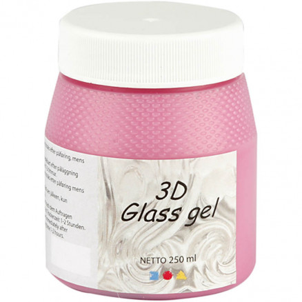 Image of 3D Glass gel, pink, 250ml