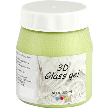 Image of 3D Glass gel, light green, 250ml