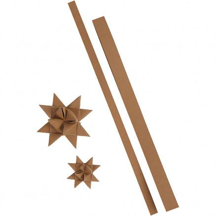 Stjernestrimler, B: 15+25 mm, L: 44+78 cm, natur, 24strimler, tykkelse thumbnail