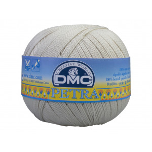 DMC Petra nr. 5 Hæklegarn Unicolor 54003 Perlegrå