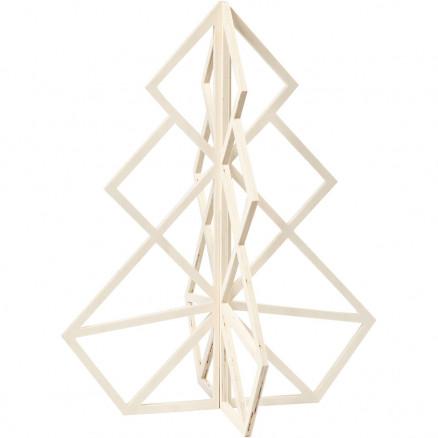 Billede af 3D Juletræ, H: 60 cm, B: 48 cm, krydsfiner, 1stk.