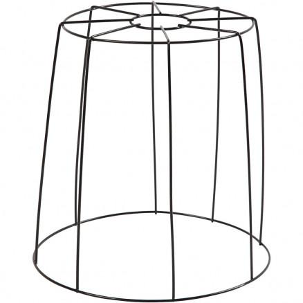 Lampeskærm, H: 20 cm, diam. 15,5-20 cm, sort, 1stk. thumbnail