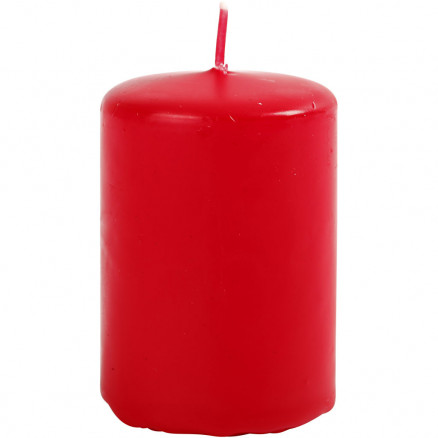 Bloklys, diam. 40 mm, H: 60 mm, rød, 12stk. thumbnail