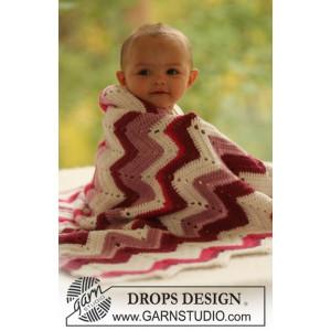 Baby Snug by DROPS Design - Tæppe Hækleopskrift 65x83 cm eller 75x83 cm