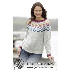 Joyride by DROPS Design - Bluse med nordisk mønster Strikkeopskrift str. S - XXXL