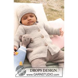Samuel Jakke by DROPS Design - Baby Jakke Strikkeopskrift str. 1/3 mdr - 3/4 år