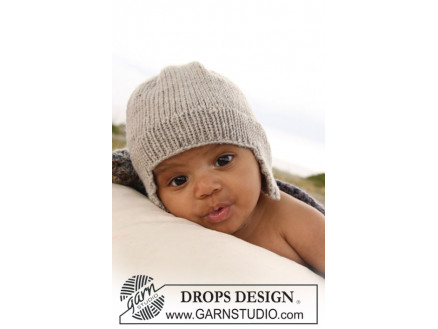 Image of   Samuel Hue by DROPS Design - Baby Hue Strikkeopskrift str. 1/3 mdr - 3