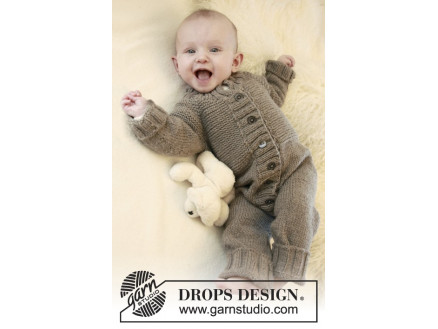 Image of   Happy Days by DROPS Design - Baby Dragt Strikkeopskrift str. 1/3 mdr -