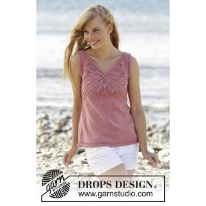 Butterfly Heart Top by DROPS Design - Top Strikkeopskrift str. S - XXXL