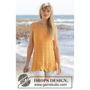Sunkissed by DROPS Design - Top Strikkeopskrift str. S - XXXL