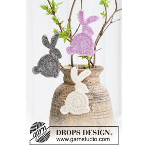 Hoppity Hop by DROPS Design - Kanin Hækleopskrift 10x5 cm