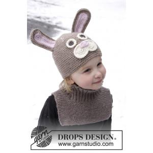 Honey Bunny by DROPS Design - Påskehare hue Hækleopskrift str. 1-8 år