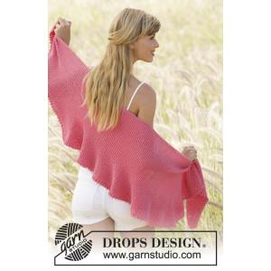 Pink Sorbet by DROPS Design - Sjal Strikkeopskrift 33x140