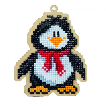 Wizardi Diamond Painting Pakke Penguin Willie 11,7x9,3cm thumbnail