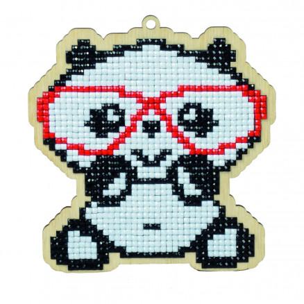 Wizardi Diamond Painting Pakke Panda i briller 11,2x10,6cm thumbnail