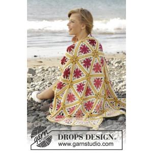 Spring Daze by DROPS Design - Tæppe Hækleopskrift 93x130