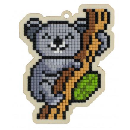 Wizardi Diamond Painting Pakke Koala på filialen 10,5x8,2cm thumbnail
