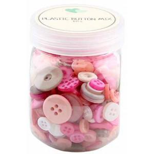 Go handmade – Go handmade assorterede knapper pink 100 g fra rito.dk