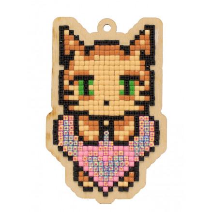 Wizardi Diamond Painting Pakke Kattens kærlighed 9,5x6,1cm thumbnail