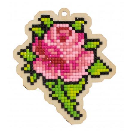 Wizardi Diamond Painting Pakke Rose Bud 9,8x8,6cm thumbnail