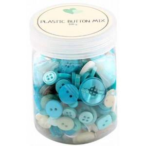 Go handmade – Go handmade assorterede knapper blå 100 g på rito.dk