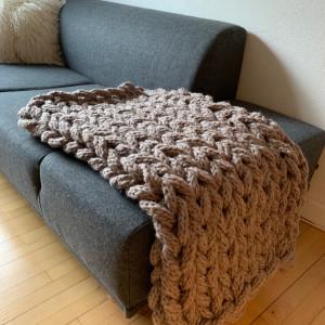 Chunky Tæppe af Rito Krea - Tæppe Strikkeopskrift 130x110 cm